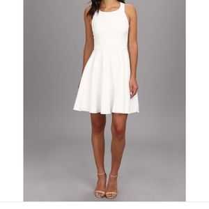 White Bow-Back Fit & Flare Cocktail Dress!